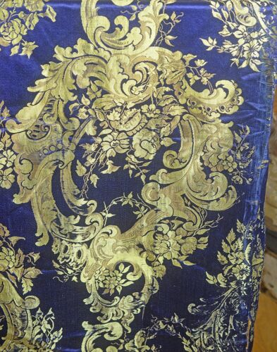 Antique 19th French Silk Satin Brocade VV666