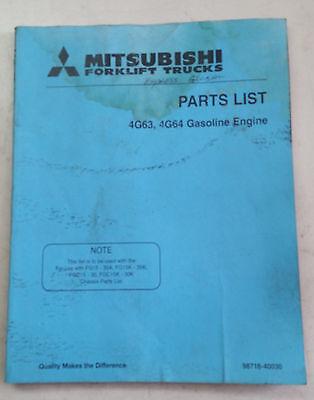 Mitsubishi Forklift Parts Manual 4g63 4g64 Gasoline Motor