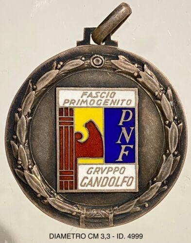 FASCIO PRIMOGENITO MEDAGLIA ARGENTO PARTITO NAZIONALE FASCISTA GRUPPO GANDOLFO