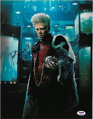 Benicio Del Toro Signed Guardians Of The Galaxy Auto 11X14 Photo Psa Dna Ab92542