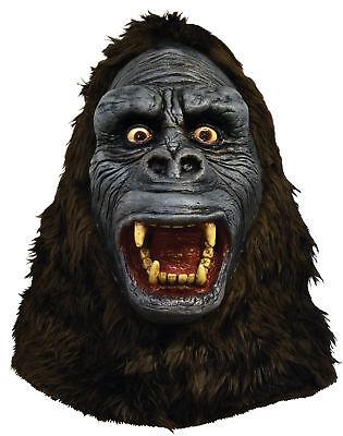 King Kong Latex Erwachsene Maske Affe Monster Gorilla Film Kopf Kostüm Halloween