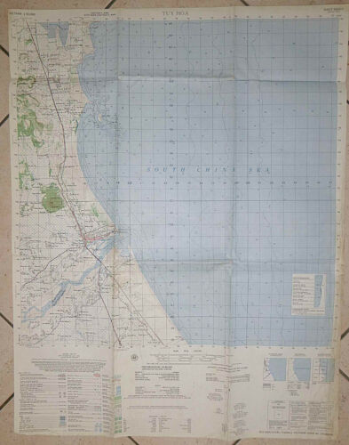 6835 ii - MAP - TUY HOA AIR BASE - 1965 - USARV - Phu Yen Province - Vietnam War