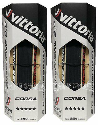 Vittoria Corsa G 2.0 Graphene 2019 clincher 700 x 25 black / tan 2 tires