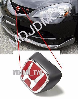 Oem Front Red H Emblem w/ Black Holder HONDA 05-07 INTEGRA DC5 TYPE R  RSX Jdm