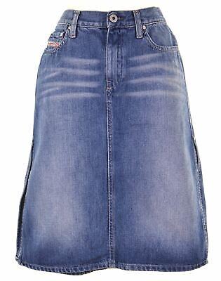 DIESEL Womens Denim Skirt W27 L21 Blue Cotton  LK18 Diesel Cotton Skirt