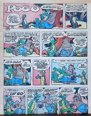 Pogo by Walt Kelly - large full tab page color Sunday comic - May 19, 1957](May Coloring Pages)