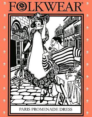 Folkwear 261 Paris Promenade Dress XS-XL Elegant 1918-1920 Style Sewing Pattern