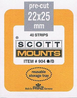 4 Packages of Scott Mounts 22x25 in Black