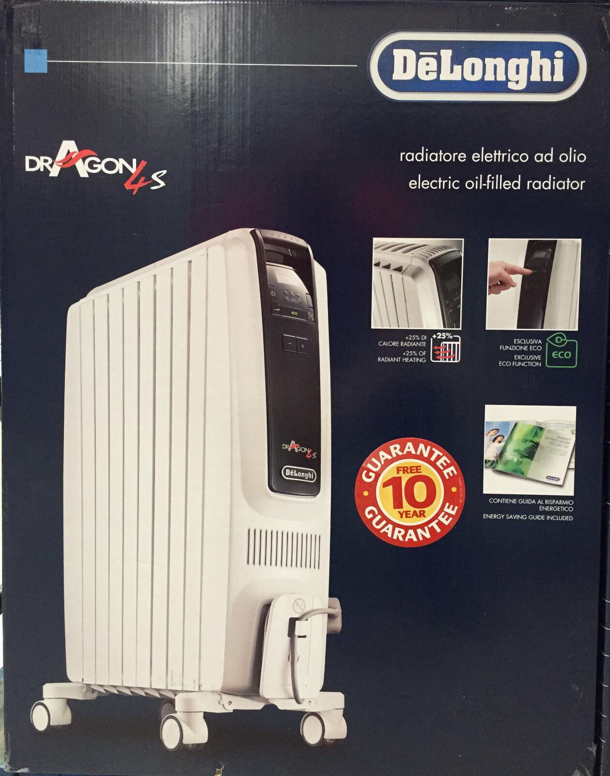 Delonghi safe heat oil filled radiator - Delonghi Dragon 4s 2kw Oil Filled Radiator Trds40820e Portable Heater Brand New