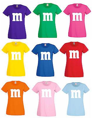 Kostüm Gruppenkostüm Paarkostüm für M&M Fans M und M Karneval Shirt