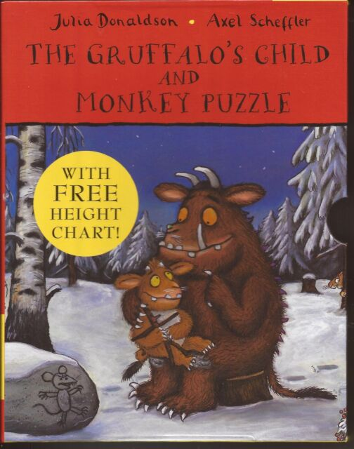 THE GRUFFALO'S CHILD & MONKEY PUZZLE Board Book Set + Height Chart in Case NEW