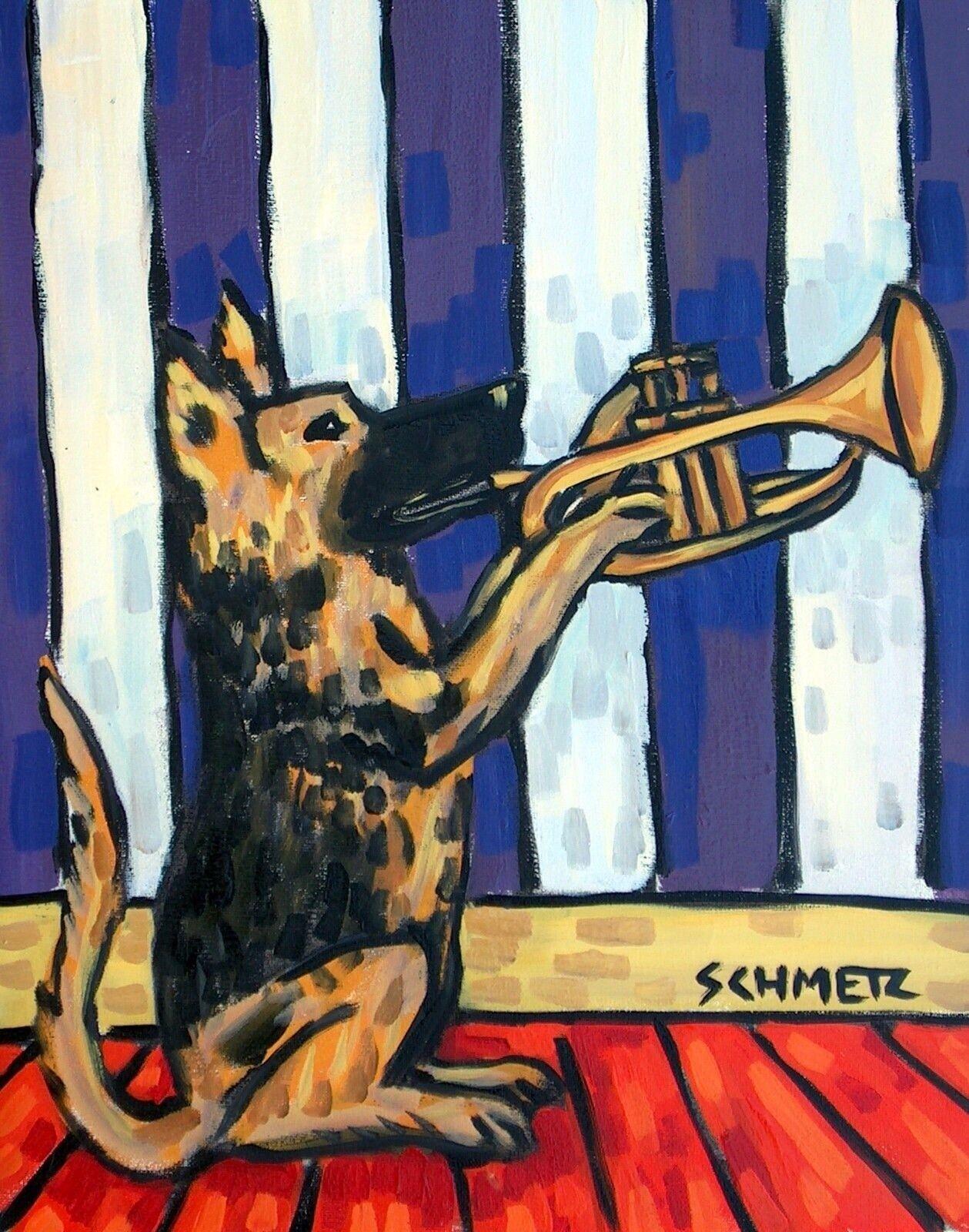 bulldog flossing dog art print 13x19 animal gift picture giclee impressionism
