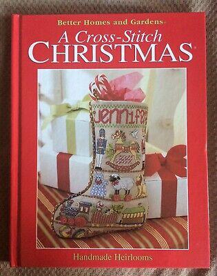 2002 A Cross-Stitch Christmas Handmade Heirlooms (Hard Cover) Brand New