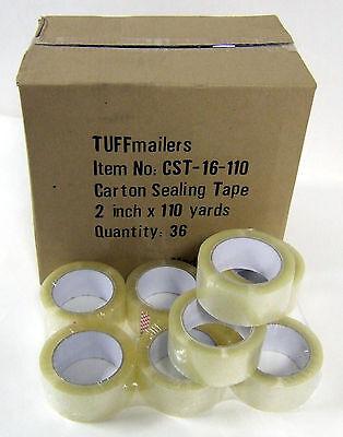 18 Rolls Carton Sealing Clear Packingshippingbox Tape- 1.6 Mil- 2 X 110 Yards