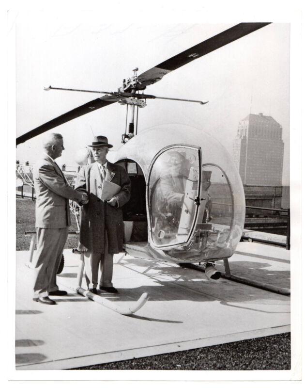 1953 Vintage United Press Photo Helicopter Chicago,Frank J.Lewis,Lewis College