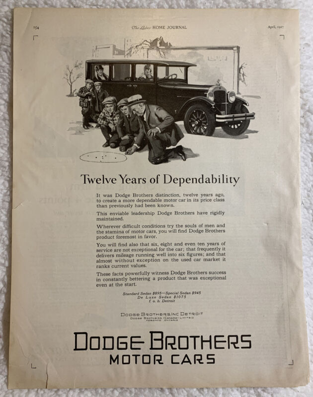 1927 Print Ad Dodge Brothers Motor Cars Car Older Man Plays Marbles with Kids