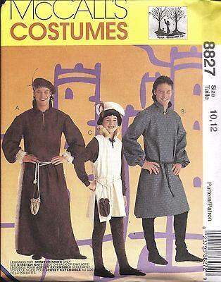 8827 Uncut Vintage Mccalls Nähen Muster Herren Jungen Mittelalter Kostüm - Mittelalter Herren Kostüm Muster