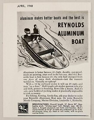 1948 Print Ad Reynolds Aluminum Boats Marine Division Louisville,KY