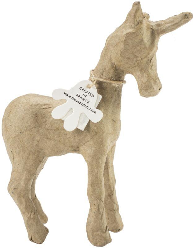 "Paper-Mache Figurine 4.5""-Magical Unicorn"