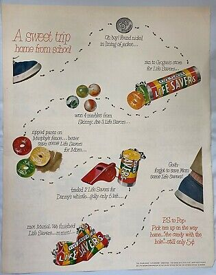 Vintage Life Savers Five Flavor Whistle Marbles 1951 print ad