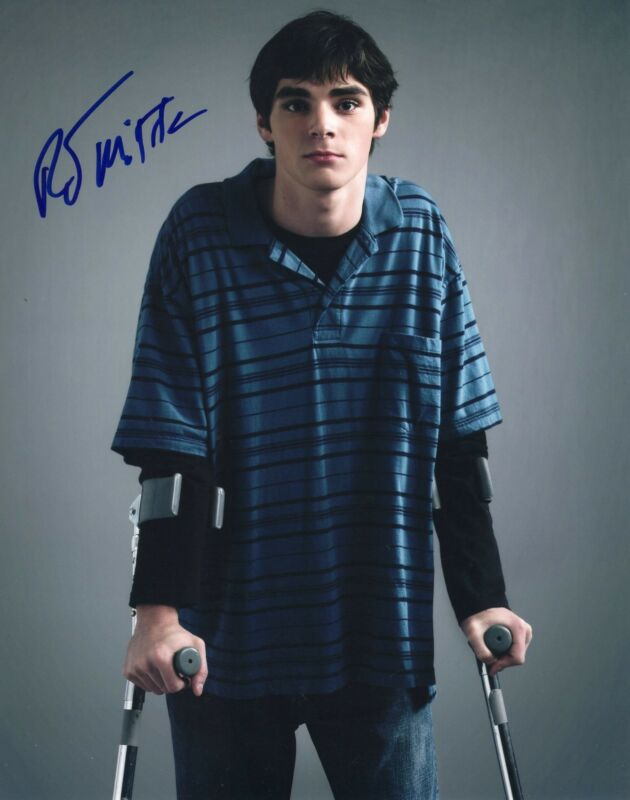 RJ Mitte Breaking Bad Walter White Jr. Signed 8x10 Photo w/COA #13