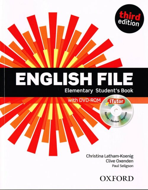 ENGLISH FILE Elementary Third Edition 2012 Student's Book w iTutor DVD-ROM @NEW@