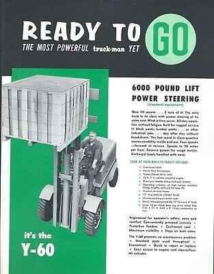 Fork Lift Truck Brochure - Truck-man - Y-50 - 6000 Lb - C1956 Lt370