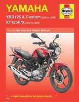 Haynes Workshop Manual For Yamaha Ybr125, Xt125r/x - yamaha - ebay.co.uk