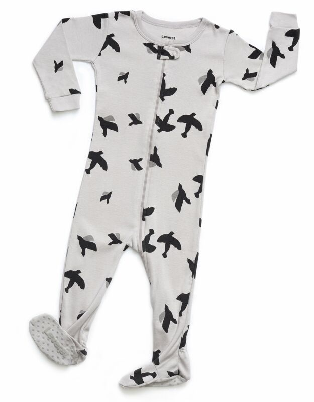 Leveret Baby Boys Girls Footed Pajamas Sleeper 100% Organic Cotton Kids &