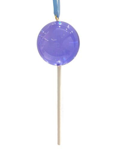 CLEAR Medium  Blue Purple Candy Lollipop Christmas Ornament Pick Prop Spring