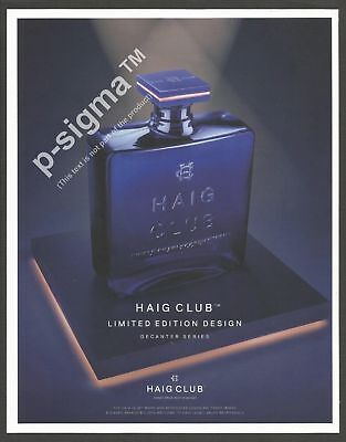 HAIG CLUB Limited Edition Scotch Whisky Print Ad for sale  Shipping to Canada
