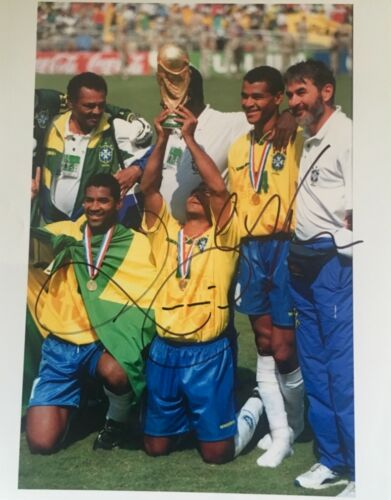 Romario and Cafu double signed 10x8 Brazil photo UACC AFTAL registered dealer