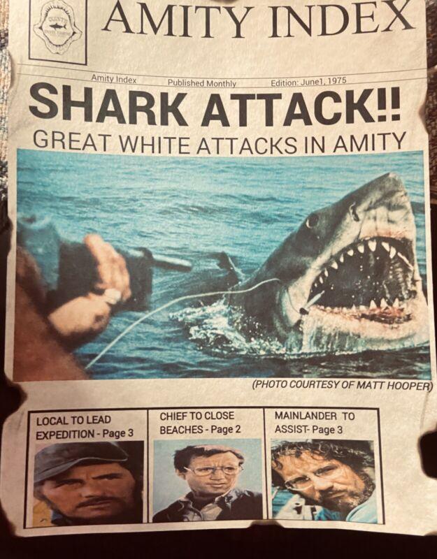 Jaws 1975 Bruce News Print