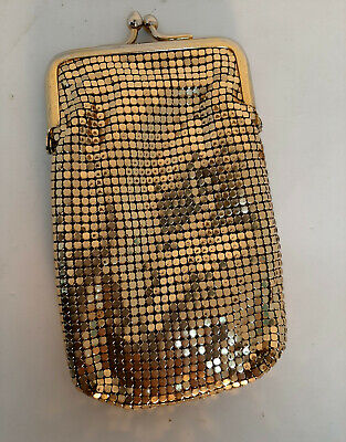 Vintage Whiting & Davis Gold Mesh Bag Pouch Cigarette Case Coin Purse