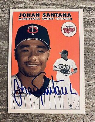 JOHAN SANTANA MINNESOTA TWINS SIGNED 2000 FLEER TRADITION ROOKIE CARD RC #U32