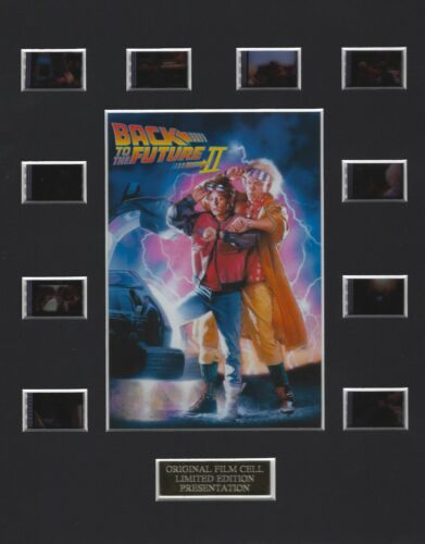 Back To The Future II Authentic 35mm Movie Film Cell 8x10 Matted Display - w/COA