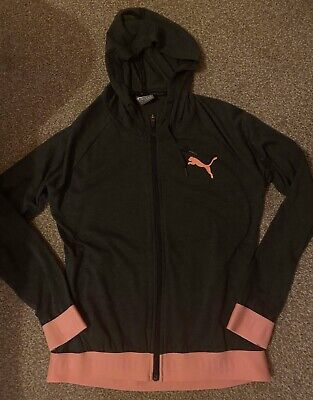 Puma Ladies Full Zip Hoodie Hooded Top - Size 10