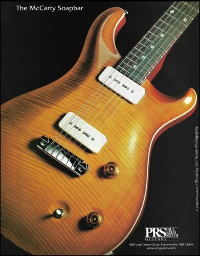 The PRS Ted McCarty Soapbar guitar ad 8 x 11 advertisement print