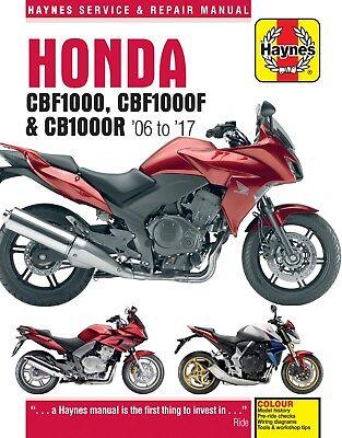 Honda CB1000R CB 1000R Haynes Manual Repair Manual Workshop Manual 2008-2017