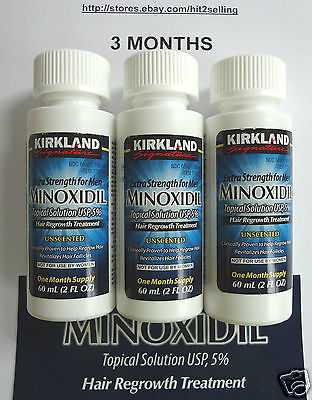 3 Months 5  Minoxidil Extra Strength Men Exp  Date  2019 Hair Regrowth Kirkland