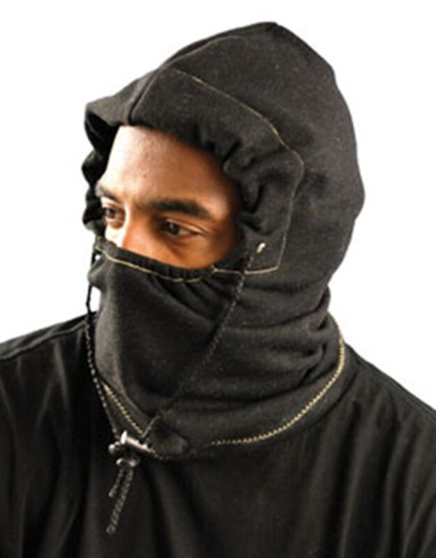 OccuNomix 3 in 1 Fleece Balaclava Winter Liner  Flame Resistant Charcoal Black