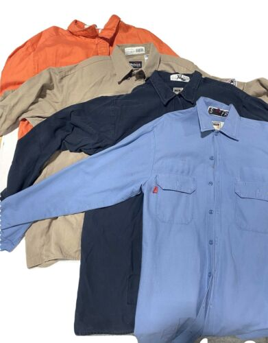 Flame Resistant Shirts - Reed, Bulwark - Long Sleeve Work Uniform Used