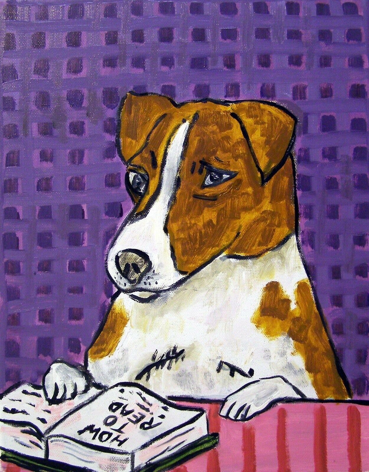 8.5x11 signed JACK RUSSELL TERRIER dog 8x10 signed artist prints animals