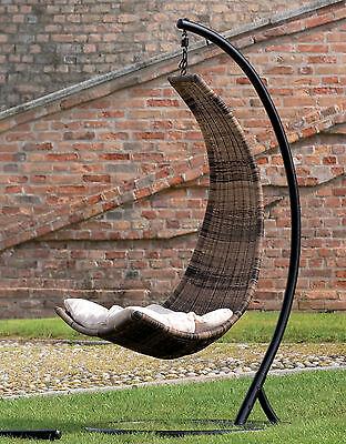 dondolo pensile poly rattan vimini sintetico poltrona seduta da esterno giardino