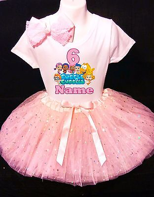 Bubble Guppies Dress 6th Birthday --With NAME-- party Tutu outfit (Bubble Guppies Dress)