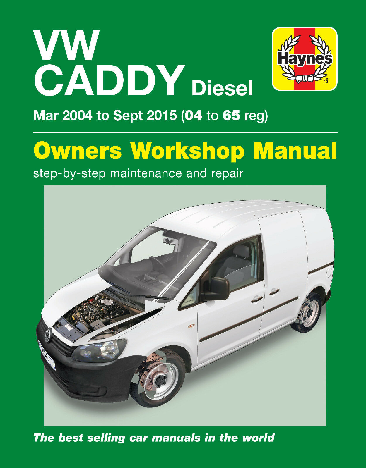 HAYNES 6390 MANUAL VW VOLKSWAGEN CADDY MAR 2004 TO SEP 2015 (04 - 65 REG) DIESEL