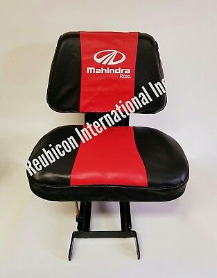 Mahindra Tractor Seat Cover -small Red And Black