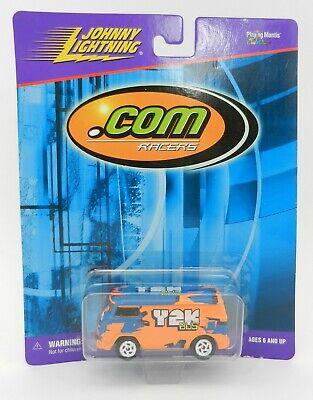 Johnny Lightning *.COM RACERS* Orange Y2K Volkswagen Bus Van *NIP*
