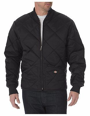 Dickies 61242 Black & Dark Navy Diamond Quilted Nylon Jacket M-5XL Free Shiping ()