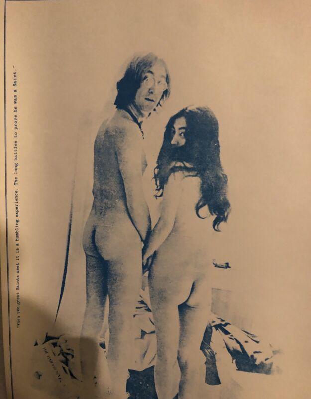 "JOHN LENNON/ YOKO ONO VINTAGE TWO VIRGINS POSTER 28.5""x 22.5"". Poster Stock.  NM"